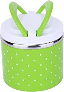Yosoo Container Bento Box, Soup Thermos Food Jar, conteners lunch Yosoo 1-3 Layers Stainless Steel Thermal Insulated Lunch Box Bento Food Container With Handle (600ml, Green)