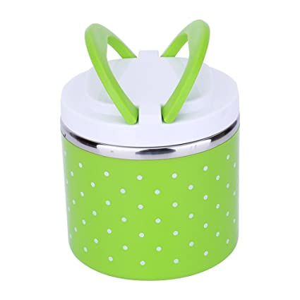 670a7b9af7fb Buy 600ML, Green : ZJchao Stainless Steel Thermal Insulated Bento ...