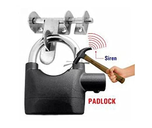 Carecroft Security Pad Lock Anti Theft System with Burglar Smart Alarm Siren Motion Sensor Secure for Home Door gate Cycle Shop Bike Office Shutter