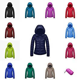 CHERRY CHICK Women's Ultra-Light Down Jacket with Hood (Perfect for Spring & Autumn)