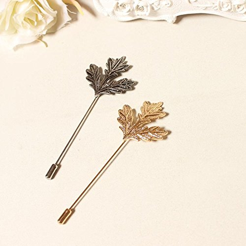 European and American literary Sen Deparent of retro temperament large maple leaf brooch Gold / Antique Silver brooch pin female accessories ()