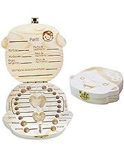 Spanish texto bebé dientes caja, Aitsite save cajas de madera personalizada caja de recuerdos de hoja caduca, personalizar personalizada bebé dientes caja