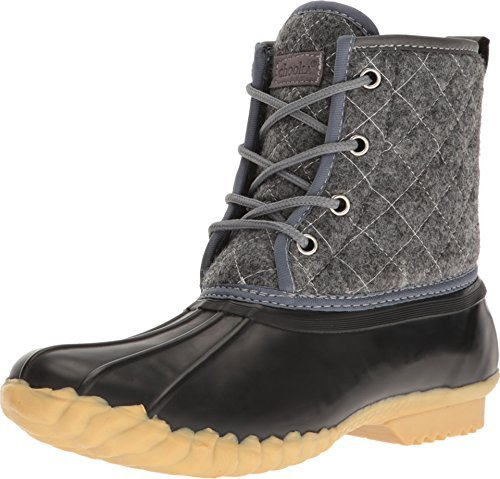 Chooka Women's Eastlake Quilted Duck Boot Charcoal 6 M US