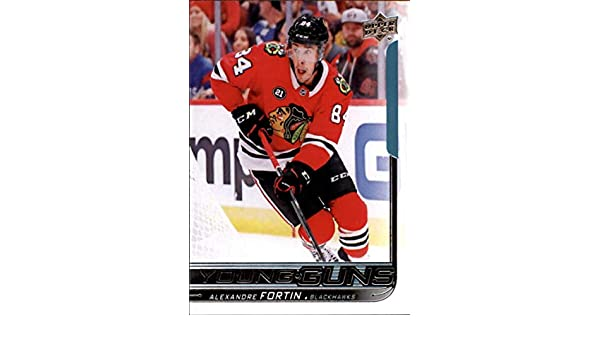 Amazon.com  2018-19 Upper Deck  490 Alexandre Fortin RC Rookie Chicago  Blackhawks Young Guns NHL Hockey Trading Card  Collectibles   Fine Art a621db49b
