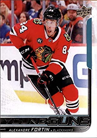 2018-19 Upper Deck  490 Alexandre Fortin RC Rookie Chicago Blackhawks Young  Guns NHL 4aa6c0918
