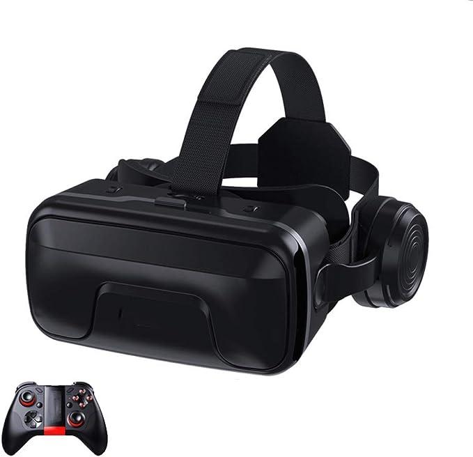 SCKL Lentes 3D Casco De Realidad Virtual con Controller para iPhone Android Smartphone Móvil Gafas 3D Gaming Headset VR: Amazon.es: Electrónica