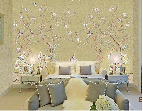 LHDLily 3D Murals Wallpaper For Living Room Hand-Painted Flower Bird Photo Wall Murals Wallpaper Wallpapers For Living Room 300cmX200cm - Hand Painted Nursery Murals