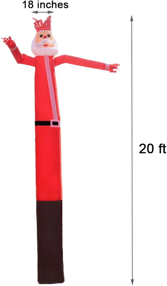 Mkevi 20ft Santa Sky Air Puppet Dancer Inflatable Arm Flailing Tube Man Wacky
