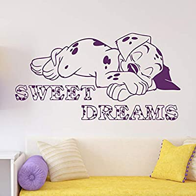 Wall Decals Puppy Lucky Wall Vinyl Image Cartoon Walt Disney Art 101 Dalmatians Wall Vinyl Decal Decor Sweet Dreams Wall Decal Kids Childs Room Made in USA: Kitchen & Dining