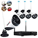 Wireless Security Camera System 4 channel 720P WiFi IP CCTV Cameras 960P NVR Home Network Outdoor indoor Video Surveillance System Night Vision Remote View NO Hard Drive