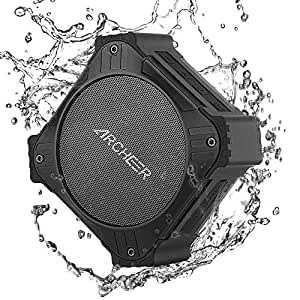 ARCHEER Solar Power Portable Bluetooth Speaker,IPX6 Waterproof Speakers with 20hrs Playtime,Enhanced Bass, Built in Mic,Handfree Calking, AUX Input and DurableDesign