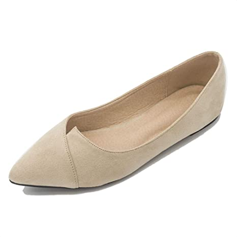 31d7b928532b6 Amazon.com: August Jim Women Ballet Flats Shoes Slip on Pointy Toe ...