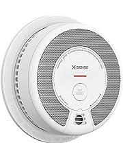 X-Sense rookmelder, rook- en brandalarm met batterijvoeding die 10 jaar werkt, foto-elektrische sensor en mute-knop, voldoet aan EN14604-norm, SD06