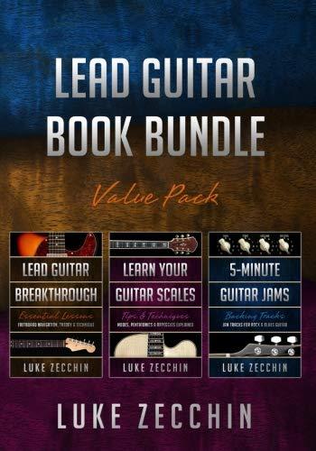 Lead Guitar Book Bundle: Lead Guitar Breakthrough + Learn Your Guitar Scales + 5-Minute Guitar Jams (Books + Online Bonus Material)
