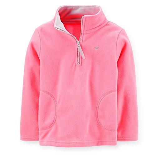 Carter's Baby Girls' Full-Zip Fleece Jacket (18 Months, Pink)