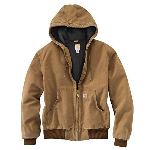Carhartt Men's J140 Duck Active Jacket - Quilted Flannel Lined - XXXX-Large Brown