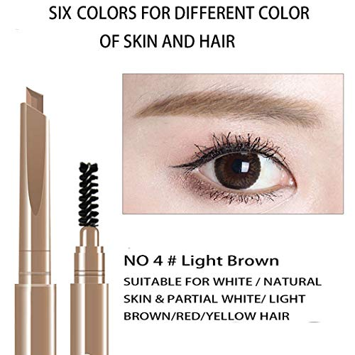 AFY Long lasting and Waterproof Professional Makeup Auto Eyebrow Pencil (No.4 Light Brown)