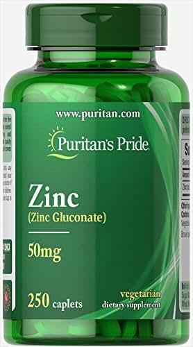 Puritan's Pride Zinc 50 mg-250 Caplets