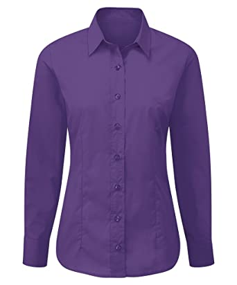 Alexandra stc-nf90pu-16 cuidado Camiseta de manga larga para mujer, plain, 65% poliéster/35% algodón, tamaño 16, color morado: Amazon.es: Industria, empresas y ciencia