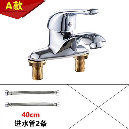 20 LHbox Basin Mixer Tap Bathroom Sink Faucet Smell the basin faucet hot and cold two hole faucet basin sink faucet full copper Washbasin Faucet I, paragraph 2 of the +60CM Hose