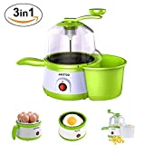 Aikotoo Egg Cooker Machine,Popcorn Popper 3 in 1 Home Automatic Multi-function Mini Non Stick Skillet Dash Egg Cooker Frying Pan Rapid Popcorn, Fried Egg Cooker Egg Boiler Omelette Save 50% for Top 20