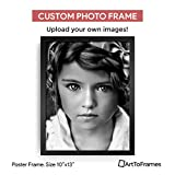 Custom Framing on Amazon Custom Printed High Definition Quality Photo 10 x 13 , Framed in Satin Black
