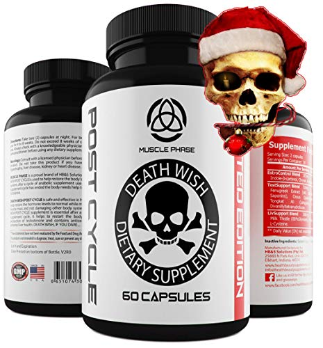 _ ANABOLIC Post Cycle by Death Wish Supplements * Liver Support,Testosterone Balance,Estrogen Control Blocker,Testosterone Booster Support & Liver Support Blend