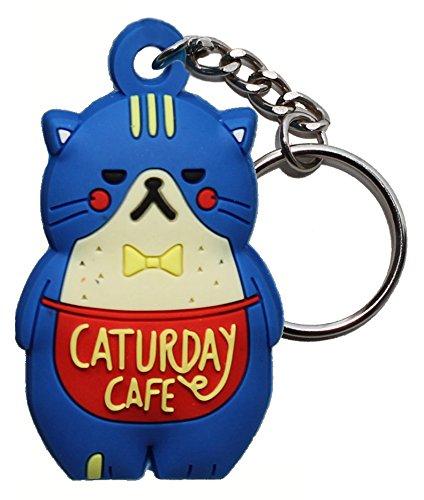 Amazon.com: Fat Cat 3d Figura llavero & Lucky Charm, Azul ...