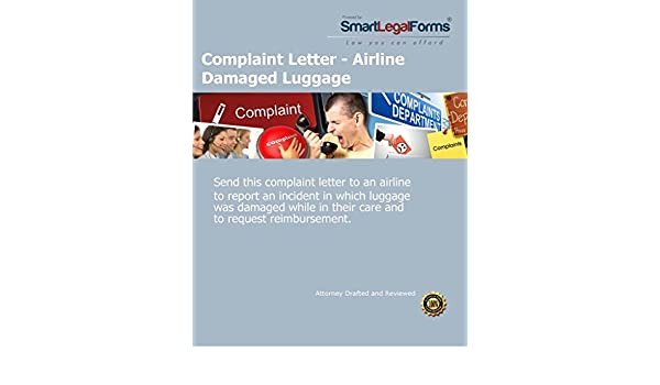 amazoncom complaint letter airline damaged luggage instant access software