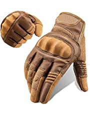 All-Finger Tactical Gloves Men's and Women's Touch Screen Outdoor Motorcycle Gloves (Color : Brown, Size : X-Large)