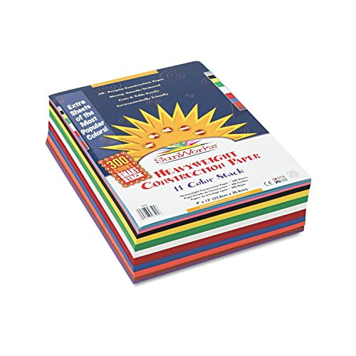 SunWorks Smart-Stack Construction Paper, 9 x 12 Inches, 11