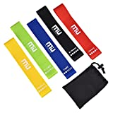Loops Exercise Resistance Bands, MIU COLOR Workout Bands Kit – Best for Home Workout Pilates Yoga Rehab Physical Therapy with Carrying Bag, Set of 5