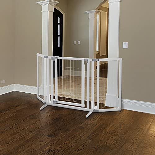 Richell Premium Plus Freestanding White Pet Gate