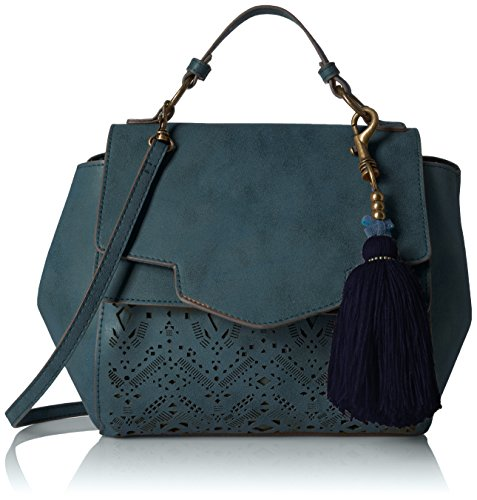 t-shirt-jeans-perforated-satchel-with-tassel-blue