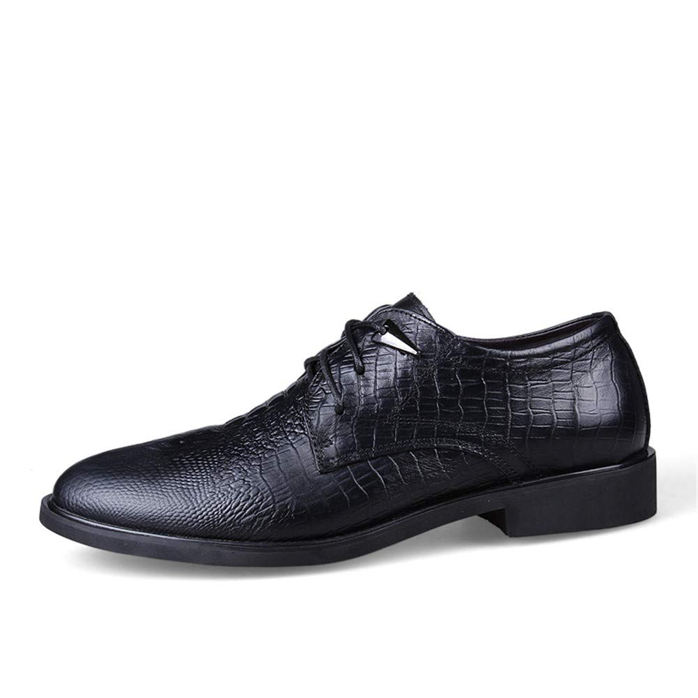 Ofgcfbvxd Business Einfache Ankle Schuh für Herren Einfache Business Klassische Geschäfts-Oxford-Krokodil-Runde Zehe-Formale Schuhe für Anzug Kleid Hochzeit Arbeit (Farbe : Schwarz, Größe : 36 EU) Schwarz 807759