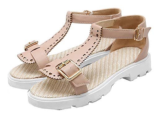 Pu Solid Heel rosa Tsmlh007982 Sandals Mini Dress fibbia Women Aalardom con FBfgwq6