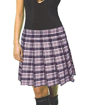 Musk Baby Pink Schoolgirl Tartan Plaid Pleated Long Skirt Mawson Plus Long