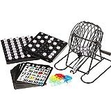 Game Bingo Cards Set Cage Balls Number Kids Balls Shower Markers Board Kit Family