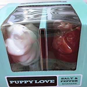 Two's Company Salt & Pepper Shakers - Puppy Love