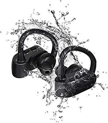 LUXA2 AD-HDP-PCLOBK-00 LAVI O Wireless Bluetooth 4.0 Sweatproof Sports In-Ear Earbuds Headphone for Running, Cycling, and Hiking