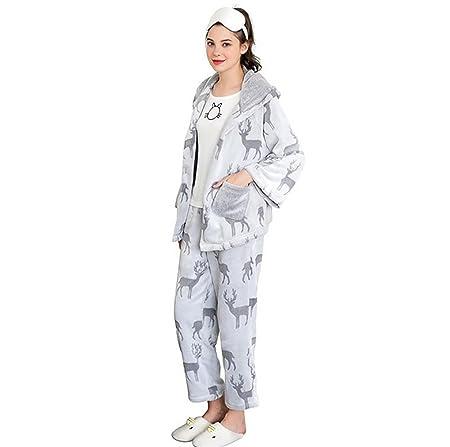 b98004ccb8a8 SEX Women S Pajamas Winter Flannel Mezzanine Sleeping Set Sweet And  Comfortable Lovely Bathrobe Tracksuit