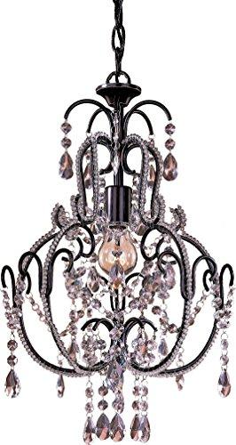 Chandelier Lighting 3123-489, Mini Candle, 1 Light, 60 Watts, Bronze ()