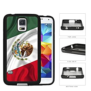 Mexican Flag With Wavy Creases Rubber Silicone TPU Cell Phone Case Samsung Galaxy S5 SM-G900