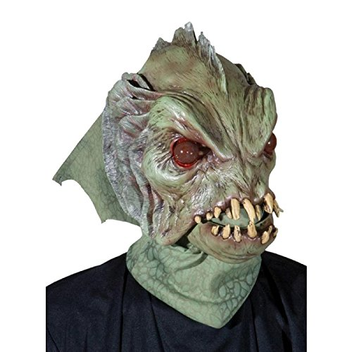 Deep Sea Creature w/ Moving Mouth Action Halloween Mask/M7006