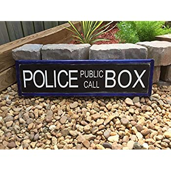 Olga212Patrick Doctor Who Sign Tardis Police Box Public Call Movie Quote Home Theater Wood
