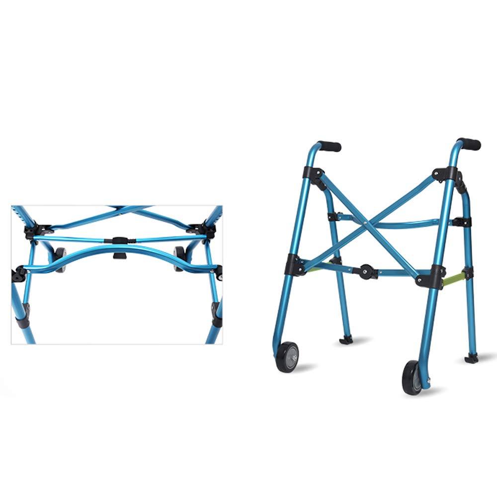 ++ アルミニウム合金ポータブルウォーカープーリー折り畳み式障害者用歩行器8高さ調節可能荷積み可能100kg # B07KGQ83MY