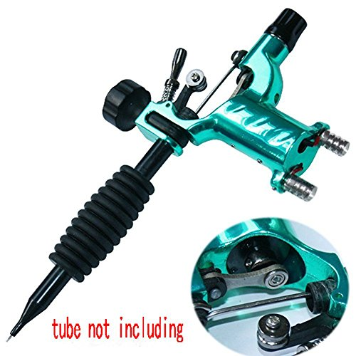 Tattoo Machine,New Star Tattoo Dragonfly Rotary Tattoo Machine Shader & Liner 7 Colors Assorted Tatoo Motor Gun Kits Supply for Artists(Tube not Including)(Green) (Tattoo Machine Gun)
