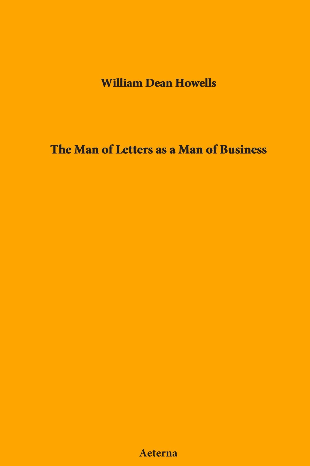 The Man of Letters as a Man of Business PDF