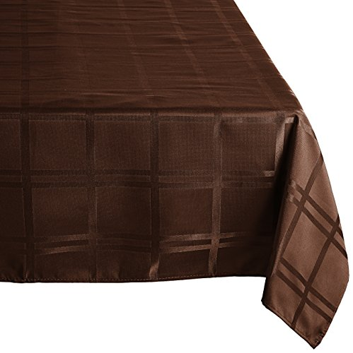 Cuisinart Microfiber Tablecloth 84 Inch Brown