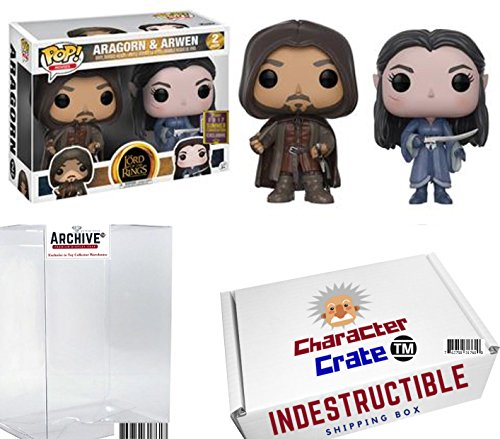 Funko Pop  Lord Of The Rings Aragorn And Arwen  Limited Edition Summer Convention Exclusive  Concierge Collectors Bundle
